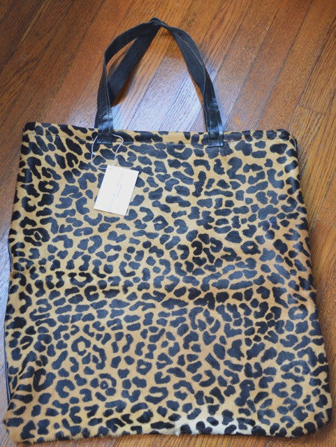 XL Hair On Leather Magazine Tote