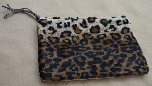 Leopard/Pale Gold Leather