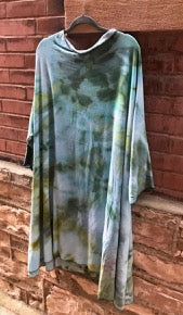 Sayulita Long Sleeve Tent Dress-- Hand Dyed Collection- READY TO SHIP