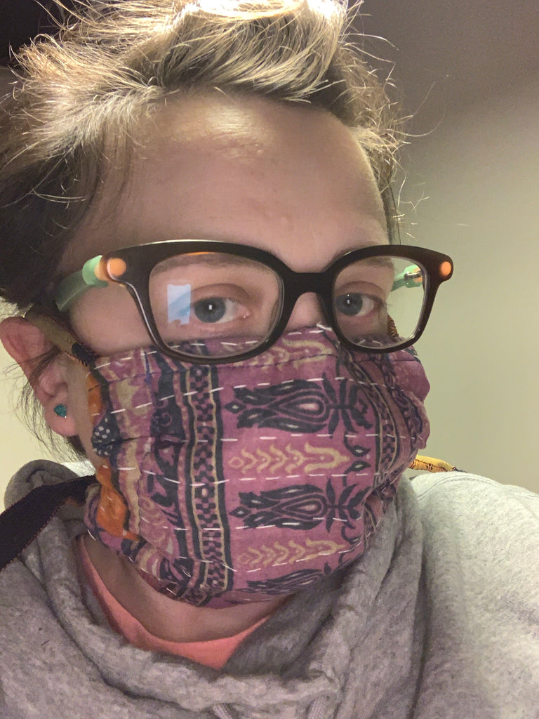 Fabric Face Mask with Ties