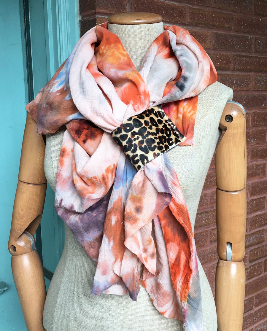 Solstice Wrap Scarf -- Hand Dyed Collection