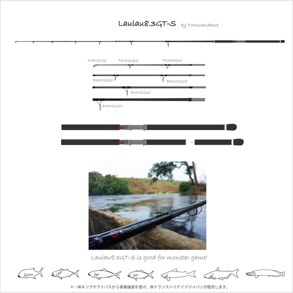 Transcendence Laulau 8.5GT-S Monster Pack Rod (Spinning) (PREORDER) - REDTACKLE