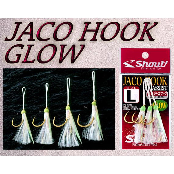 Shout Jaco Glow Assist Hooks - REDTACKLE