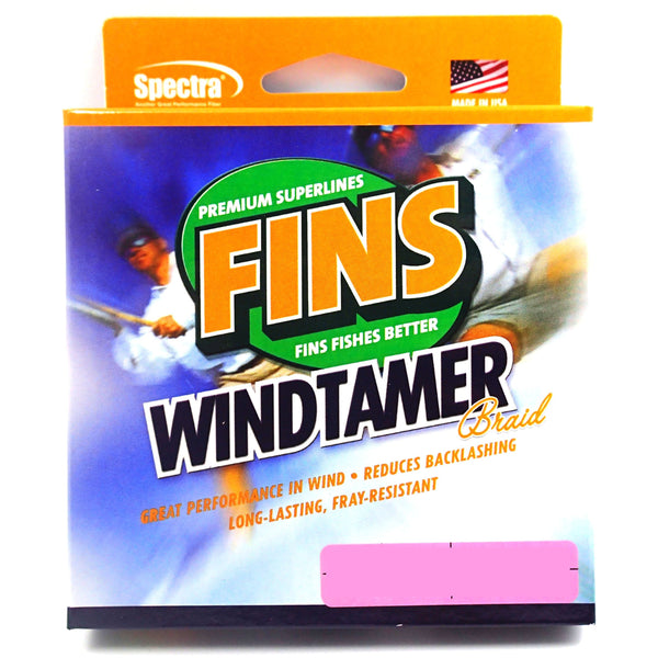 FINS Windtamer Braid (Pink) - REDTACKLE