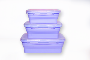 Silicone Portable Collapsable Lunch Bento Boxes