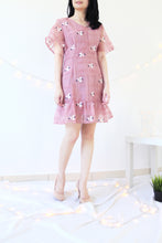 Load image into Gallery viewer, FLORAL EMBROIDERED ORGANZA DRESS