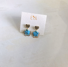 Load image into Gallery viewer, Polymer Clay Earrings - Blue Series