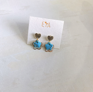 Polymer Clay Earrings - Blue Series