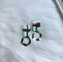 Load image into Gallery viewer, Polymer Clay Earrings - Stripe