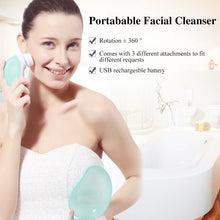 Load image into Gallery viewer, Portable Facial Cleanser Set