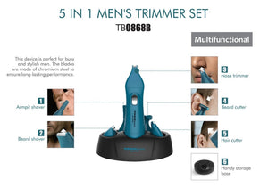 5-in-1 Men's Shaver Set