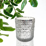 Silver Bubble Mercury Candle