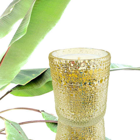 Gold Bubble Mercury Candle