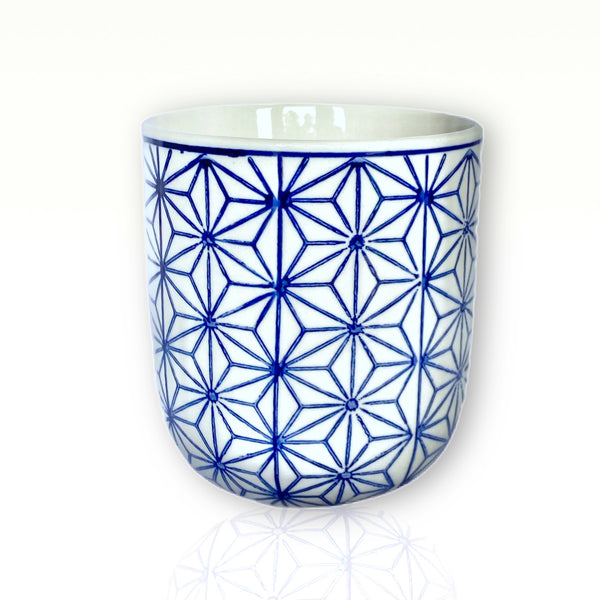 White & Blue Candle Vessel
