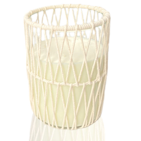 Large Macrame Candle