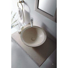 Vanities Stone Vessel Sink Vanity Set
