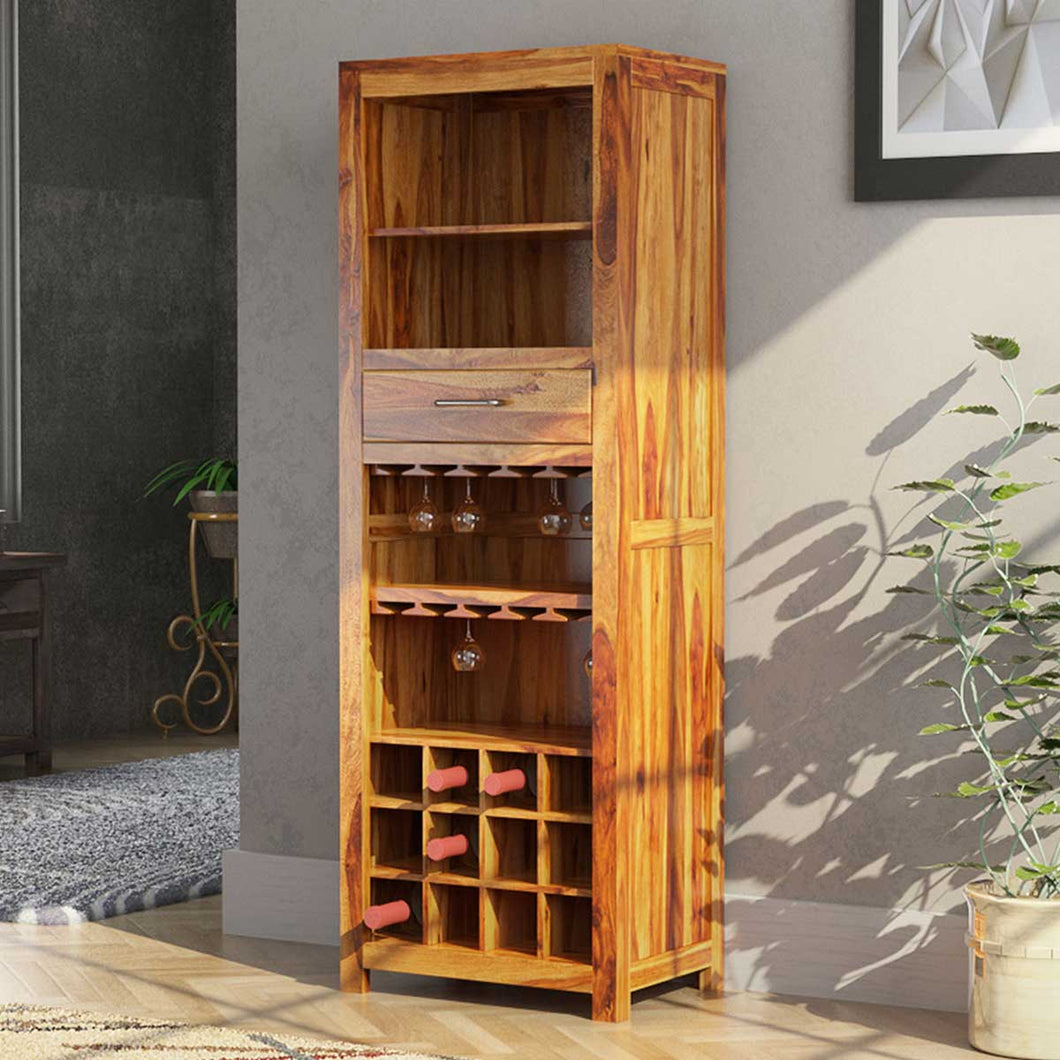 Tall Boy Solid Wood Bar Cabinet