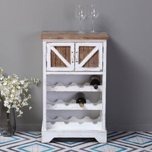 Swan Rustic Bar Cabinet In Distressed Finish