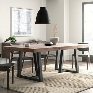 ZEN METAL AND WOOD DINING TABLE