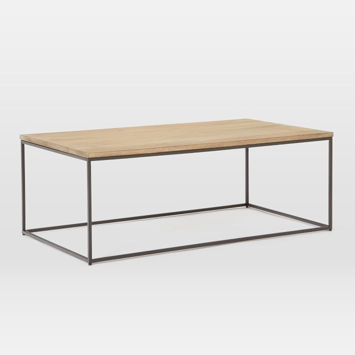 LINEA METAL AND SOLID WOOD COFFEE TABLE