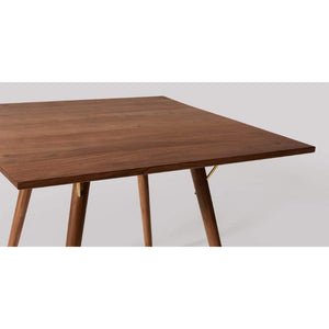 ROMA SQUARE DINING TABLE IN WALUT FINISH