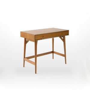 Lewis Mid Century Mini Study Table In Brown