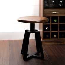 Load image into Gallery viewer, Iron Smith Bar Stool In Walnut Finish Top(Small)