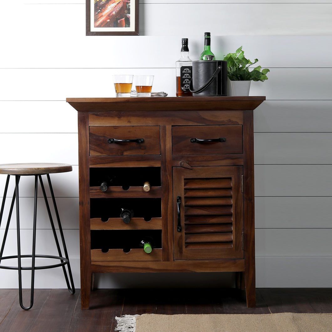 Farm House Bar Cabinet In Sheesham Wood