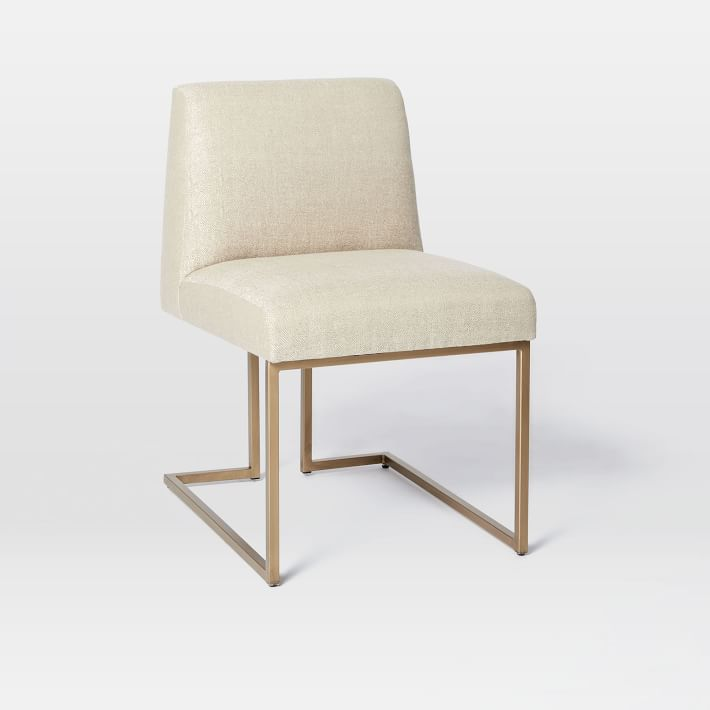 Sandra Dining Chair In Jute Upholstery (Set Of Two)