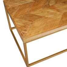 Load image into Gallery viewer, Herringbone Series Coffee Table In Golden Base