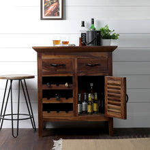 Load image into Gallery viewer, Farm House Bar Cabinet In Sheesham Wood