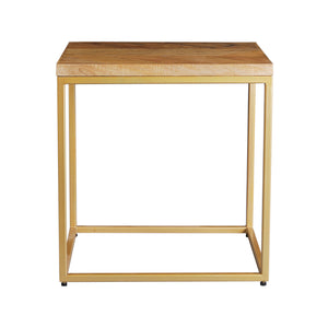 Herringbone Series End Table In Golden Base
