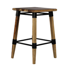 Load image into Gallery viewer, Mexico Bar Stool In Natural Finished Sheesham