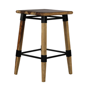 Mexico Bar Stool In Natural Finished Sheesham
