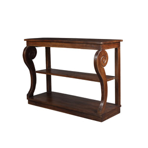 Louis Series Console Table In Walnut Finish