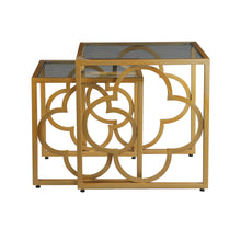 Load image into Gallery viewer, Egyptian Nesting Table In Golden Base