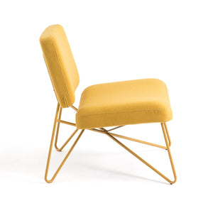 Hairpin Lounge Chair In Yellow