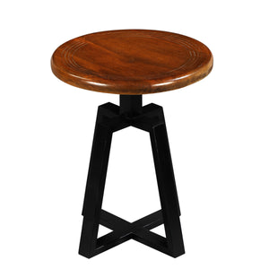 Iron Smith Bar Stool In Walnut Finish Top(Small)