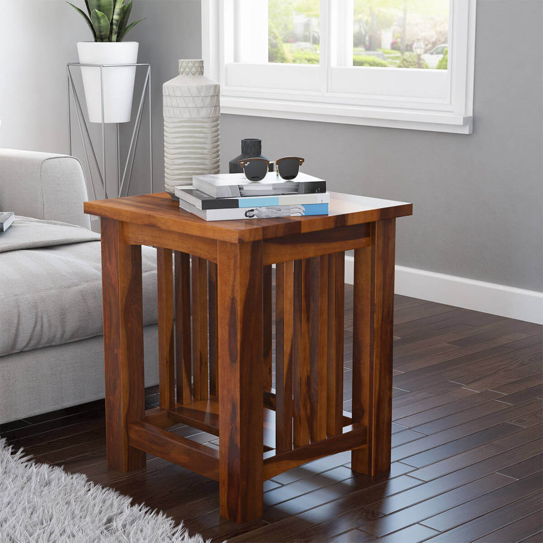Slated End Table