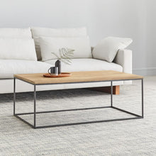 Load image into Gallery viewer, LINEA METAL AND SOLID WOOD COFFEE TABLE
