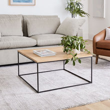 Load image into Gallery viewer, LINEA METAL AND SOLID WOOD SQUARE COFFEE TABLE