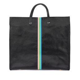 Simple Tote - Black with Mini Stripes