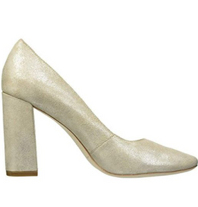 Phylis Square Toe Thick Heel Pump Sugar