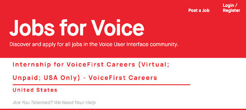 Jobs for Voice Careers