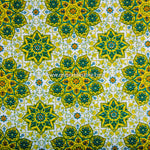 Lotus Inspired Cotton Double Bedsheet in Yellow (100x108 inch)