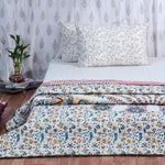 Mandala Cotton Quilted Double Bed Cover (Comforter)