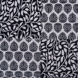 Black Patches Cotton Quilted Double Bed Cover (Comforter)