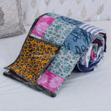 Patch Work Cotton Quilted Double Bed Cover (Comforter)