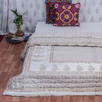 Small & Large Motifs Double Bed Quilt