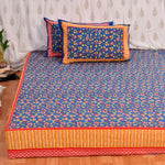 Royal Blue King Size Cotton Double Bedsheet